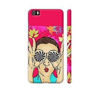 Colorpur Beautiful Girl On Multicolor Flower Pattern Artwork On Xiaomi Mi 5 Cover (Designer Mobile Back Case) | Artist: Sangeetha