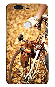 Omnam Front Cycle Tyre Printed Designer Back Cover Case For Huawei Honor V8