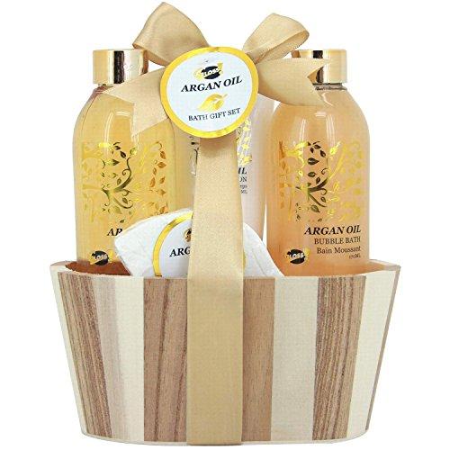 Gloss, Set da regalo con prodotti da bagno all'olio di Argan, 4 pz.
