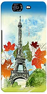 PrintVisa Travel Paris Case Cover for Micromax Canvas Knight A350