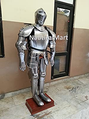 Nauticalmart Medieval Wearable Knight Crusador Full Suit of Armor Collectible Armor Costume