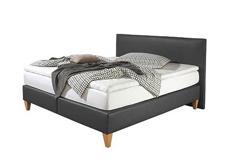 Maintal Betten 242787-4193 Boxspringbett Luxor 100x200, Kunstleder