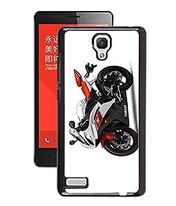 GENERIC PREMIUM FANCY 2D PRINT CASE COVER FOR REDMI NOTE 4G (Sports Bike Orange)