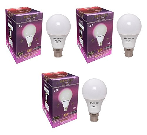 7W LED Bulb (Cool White, Pack of 3)