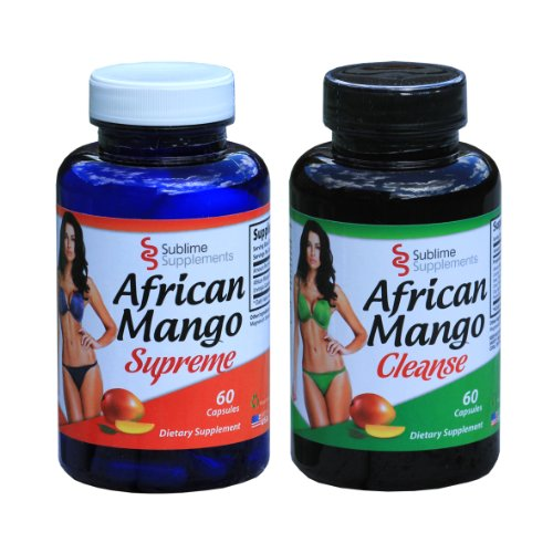 African Mango Supreme & African Mango Cleanse Combo - Diet Weight Loss & Colon Cleanse Great Value