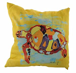Sea Turtle Bay Warm Colors Indoor/Outdoor Reversible Pillow 20 In. from Things2Die4