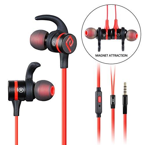 Parasom R2 Auricolare In Ear con Microfono Per Musica e Cellulare Prestazione Eccellente in Bassi e Alti Compatibile con iPhone e altri Smartphones (nero / rosso)