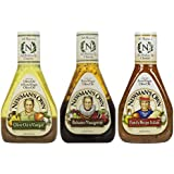 Newman's Own Salad Dressing 3 Flavor Variety Bundle: (1) Newman's Own Olive Oil & Vinegar, (1) Newman's Own Balsamic Vinaigrette, and (1) Newman's Own Family Recipe Italian, 16 Oz. Ea. (3 Bottles Total)