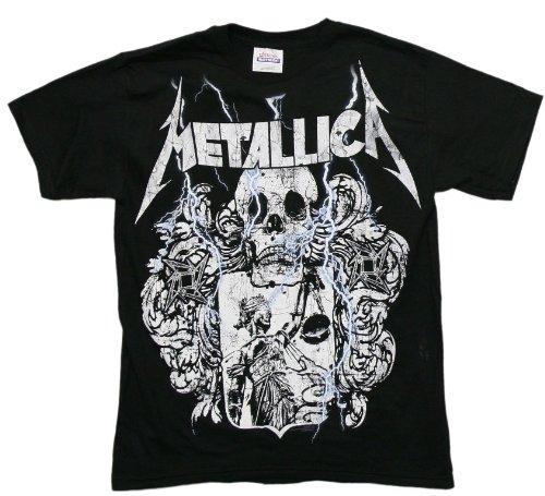 Metallica - ブラック司法シールドメンズTシャツ, Medium, Black