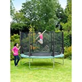 Plum Products Kids Space Zone Trampoline and 3G Enclosure - Green, 10 Ft