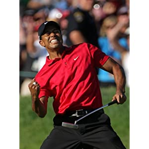 Tiger Woods Poster Celebrates After Winning Arnold Palmer Open 20x30 Photo
