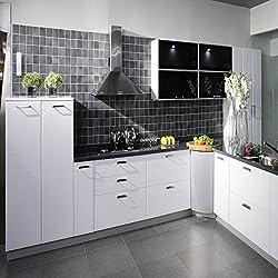 LussoLiv 500x30cm Kitchen Waterproof Stickers Cabinets Wardrobe Refurbished Stickers Self Adhesive Sticker
