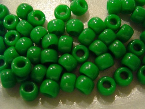 6x9mm Pony Beads-720PK/Opaque Green