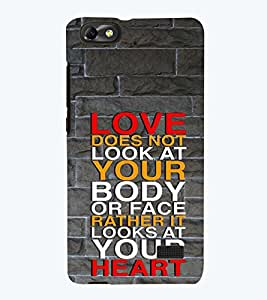 printtech Love Quotes Back Case Cover for Huawei Honor 4C::Huawei G Play Mini