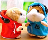Cookids Funny Unique Novel Nice Fashion Cool Amazing Interesting Cute Speak Voice Recording Talking Mimicry Pet Electronic Dj Rap Hamster Mouse Plush Music Toy Best Gift for Children