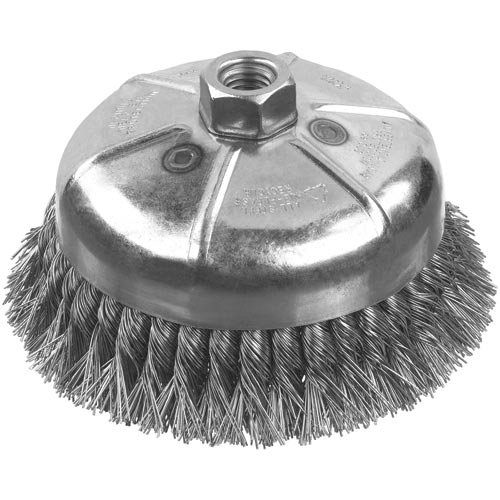 DEWALT DW49157 3-Inch by 5/8-Inch-11 XP .014 Carbon Knot Wire Cup Brush