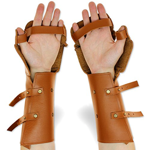 Imperial Paladin Genuine Leather Gauntlets Costume & Armor Gloves Genuine Leather Gauntlet Gloves