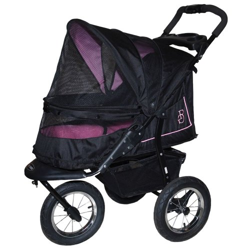 Pet Gear NV No-Zip Pet Stroller, Rose