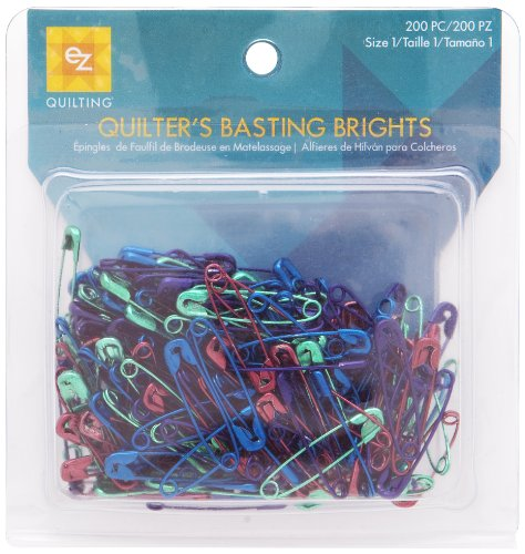 EZ Quilting 882670153 Basting Brights, 200-Piece