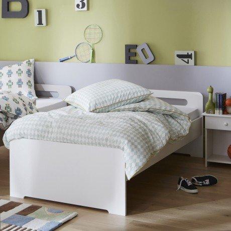 Alfred & Compagnie - Pack promo lit blanc + matelas Rose et Bathélémy