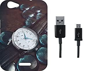 BKDT Marketing Printed Soft Back Cover Combo for Micromax Canvas Nitro 3 E352 With Charging Cable