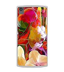 Bright Colourful Flower Pattern 2D Hard Polycarbonate Designer Back Case Cover for OnePlus X :: One Plus X :: One+X