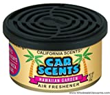 California Car Scents Hawaiian Gardens Fragrance with Vented Lid 2 Gel Cups