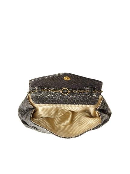 Lauren Merkin Women's Diana Convertible Cross-Body Clutch, Black/Pale Gold