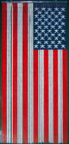 american flag beaded curtain 125 strands hanging hardware