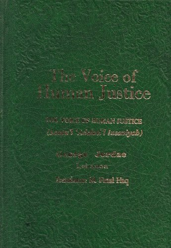 Amazon.com: The Voice of Human Justice (9780941724241): George Jordac: Books