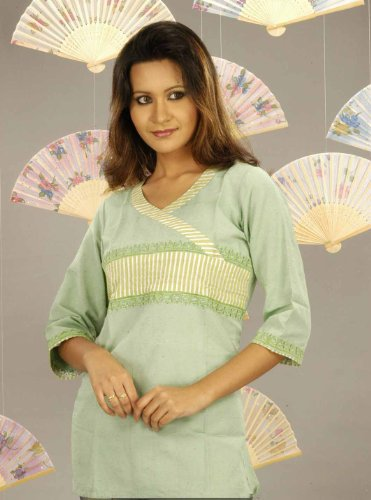 Ladies cotton blended 3/4th sleeve tops / tunics  / kurta kurti