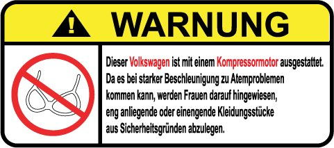 Volkswagen-Kompressor-Motor-German-Lustig-Warnung-Aufkleber-Decal-Sticker