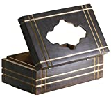 Simple & Sober Tissue Box Holder / Cover - SouvNear 10 Inches Rectangular Wooden Tissue Box Dispenser in Mango Wood - Perfect Fits 2 Ply, 160 Count Kleenex Tissues Box