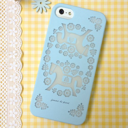 Case & Screen Protector Combo for iPhone 5/5S - Femme Beautiful Life (Blue)