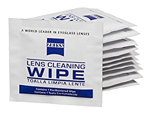 Zeiss Pre-Moistened Lens Cleaning Wipes - Cleans Bacteria, Germs and without Streaks for Eyeglasses and Sunglasses - (200 Count)