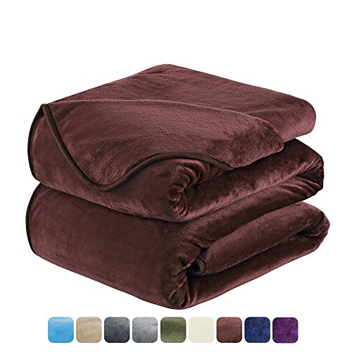HOZY Fleece Blanket King Size Luxury Super Soft Warm Fuzzy Microplush Lightweight Hypoallergenic 350GSM Blankets for Bed Couch Sofa (King,Camel)
