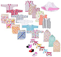 First Step new Born baby gift set Combo pack of 7 items which are Most usable in daily life for your Little one's Must have this combo for your newborn (0-6month)(ASSORTED)