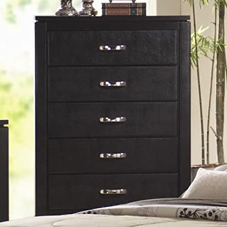 Coaster Home Furnishings 201405 Casual Contemporary Chest, Black