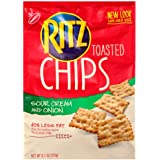 Ritz Sour Cream & Onion Chips, 8.1-Ounce Bags (Pack of 4)
