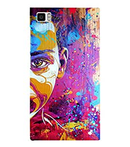 EPICCASE Colorful Face Art Mobile Back Case Cover For Xiaomi Mi3 (Designer Case)
