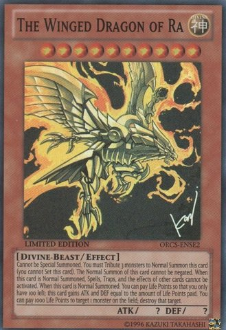 Yu-Gi-Oh! - The Winged Dragon of Ra (ORCS-ENSE2) - Order of Chaos: Special Edition - Limited Edition - Super Rare (Chaos End Master compare prices)