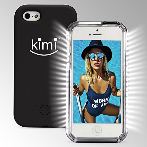 KIMI Selfie Light Iphone 7 Case, Fashion Luxury Flash Mobile Led Cover, Increase Facial Light, Luminous Cell Phone Light Up Bumper, Protective Shell