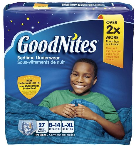 Goodnites Underwear Bonus Big Pack L/XL Boy 27ct.