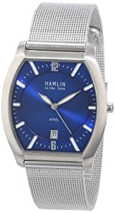Hamlin Men's HAMM0323:007/04E92GG Ultra Thin Blue Sunray Dial Stainless Steel Barrel Case Mesh Band Watch