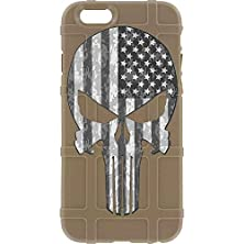 """buy Limited Edition - Authentic Made In U.S.A. Magpul Industries Field Case For Apple Iphone 6/ Iphone 6S (Standard 4.7"""" Size) (Fde, Punisher (B/W Usa Flag)"""