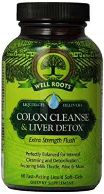 Well Roots Colon Cleanse and Liver Detox Supplement, 60 Count