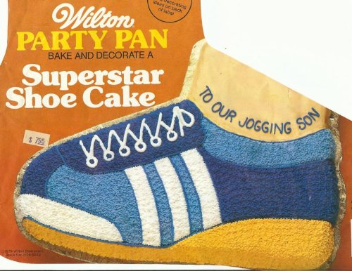 Wilton Superstar Running Tennis Golf Basketball Skate Rollerblade Hiking Boot Shoe Cake Pan (502-1964, 1979) Retired (Roller Skate Pan compare prices)