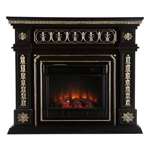 SEI AMZ1669E Donovan Electric Fireplace, Black photo B009L1T7QC.jpg