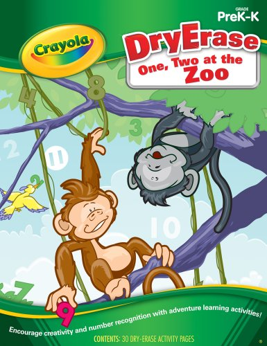 Dry Erase One, Two at the Zoo PreK-K (Crayola Actvity Book) - Paperback