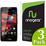 [3-Pack] Motorola RAZR MAXX HD Screen Protector by RinoGear® - Military-Grade w/ Lifetime Warranty - Premium Shield Ultra Clear Quality